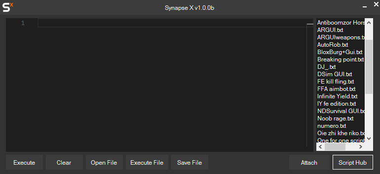 Synapse X software GUI
